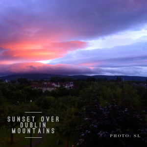 Sunset over Dublin Mountains